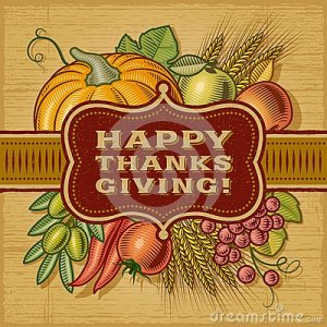 happy-thanksgiving-retro-card-woodcut-style-editable-eps-vector-illustration-34504358